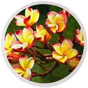 Flowerage Round Beach Towel