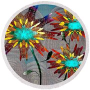 Flowering Dreams Round Beach Towel