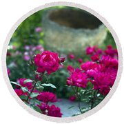 Flowering Landscape Round Beach Towel