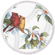 Flowering Season II Round Beach Towel