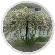 Flowering Tree By Earl's Photography Round Beach Towel