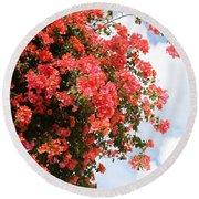 Flowering Tree Round Beach Towel