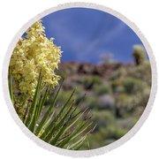 Flowering Yucca Round Beach Towel
