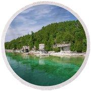 Flowerpot Island - Georgian Bay, Ontario Round Beach Towel