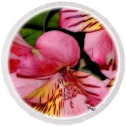 Flowers # 8728_2 Round Beach Towel