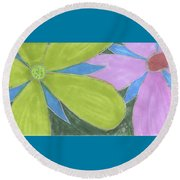 Flowers-13 Round Beach Towel