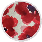 Poppy Happiness Round Beach Towel
