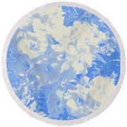 Flowers Abstract 2 Round Beach Towel