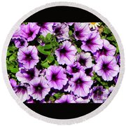Flowers Alaska July  Round Beach Towel