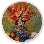 Flowers And Fruit 1889 Round Beach Towel