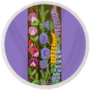 Flowers Composition 6 Round Beach Towel