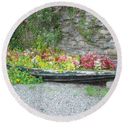 Flowers Floating Round Beach Towel