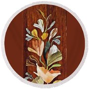 Flowers For Catherine Round Beach Towel
