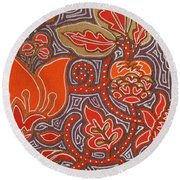 Flowers For Fleet Foxes Round Beach Towel