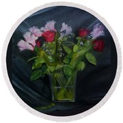 Flowers For Sarah Round Beach Towel