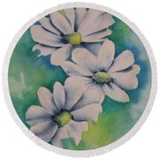 Flowers For You Round Beach Towel