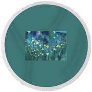 Flowers N Breeze Round Beach Towel