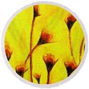 Flowers Of Love  - Van Gogh -  - Pa Round Beach Towel