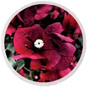 Flowers Of Mount Totems 2 Round Beach Towel