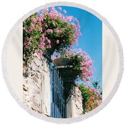 Flowers Of Panzano Photograph Round Beach Towel