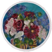 Flowers Of Remembrance Round Beach Towel