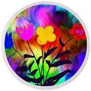 Flowers Of The I-magi-nation Round Beach Towel
