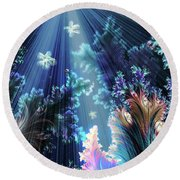 Flowers Of The Sea Round Beach Towel