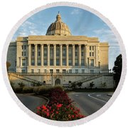 Flowers To The Capital Round Beach Towel