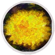 Flowery Acceptance In Abstract Round Beach Towel