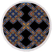 Flowing Abstact Round Beach Towel