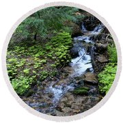 Flowing Creek Round Beach Towel