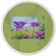 Flowing Florence Round Beach Towel