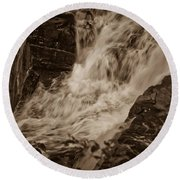 Flowing Force Round Beach Towel
