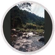 Flowing Nature Round Beach Towel