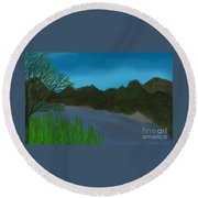 Flowing River Round Beach Towel