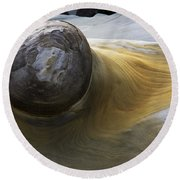 Flowing Rock 1 Round Beach Towel