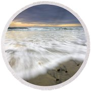 Flowing Stones Round Beach Towel by Mike  Dawson