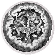 Fludds Primordial Fires, 1617 Round Beach Towel