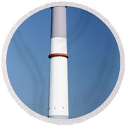 Flue Of The Reading Power Station  Round Beach Towel