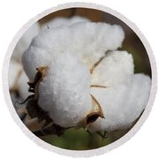 Fluffy White Alabama Cotton Round Beach Towel
