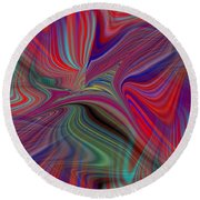 Fluid Motion 6 Round Beach Towel