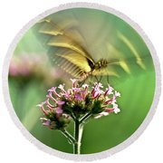 Fluttering Butterfly Round Beach Towel by Heiko Koehrer-Wagner