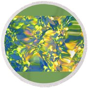 Fluttering Of Color Round Beach Towel