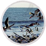 Fly Away  Round Beach Towel