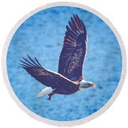 Fly By Eagle. 2 Of 3 Round Beach Towel