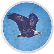 Fly By Eagle. 3 Of 3 Round Beach Towel