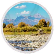 Fly Fishing Paradise Round Beach Towel
