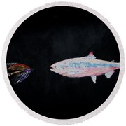Fly Fishing Two Round Beach Towel