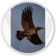 Fly Flicker Fly Round Beach Towel