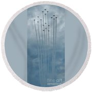 Fly Guy Formation Round Beach Towel